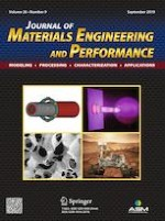 Journal of Materials Engineering and Performance 9/2019