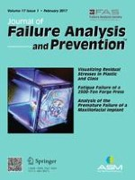 Journal of Failure Analysis and Prevention 1/2017