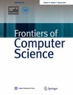 Frontiers of Computer Science 1/2018