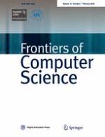 Frontiers of Computer Science 1/2018