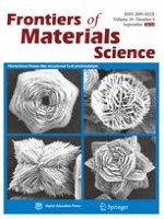 Frontiers of Materials Science 3/2016