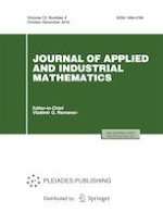 Journal of Applied and Industrial Mathematics 4/2018