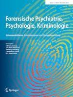 Forensische Psychiatrie, Psychologie, Kriminologie 4/2019