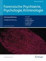 Forensische Psychiatrie, Psychologie, Kriminologie 3/2014