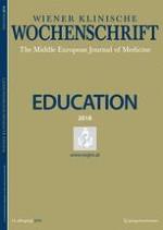 Wiener klinische Wochenschrift Education 1-4/2018