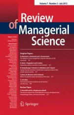 Review of Managerial Science 3/2013