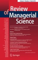 Review of Managerial Science 2/2015