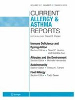 Current Allergy and Asthma Reports 3/2018