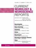 Current Neurology and Neuroscience Reports 4/2015