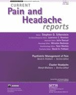 Current Pain and Headache Reports 2/2008