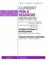 Current Pain and Headache Reports 2/2013