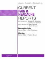 Current Pain and Headache Reports 12/2014