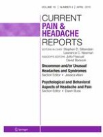 Current Pain and Headache Reports 4/2015