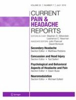 Current Pain and Headache Reports 7/2016