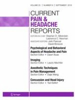 Current Pain and Headache Reports 9/2016