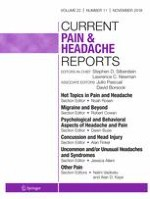 Current Pain and Headache Reports 11/2018