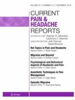 Current Pain and Headache Reports 12/2018