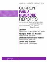 Current Pain and Headache Reports 2/2018