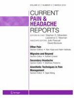 Current Pain and Headache Reports 3/2018