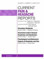 Current Pain and Headache Reports 8/2018