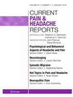 Current Pain and Headache Reports 1/2019