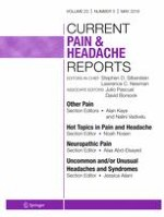 Current Pain and Headache Reports 5/2019
