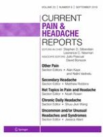Current Pain and Headache Reports 9/2019