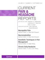 Current Pain and Headache Reports 9/2021