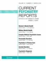 Current Psychiatry Reports 3/2016