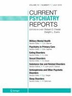 Current Psychiatry Reports 7/2016