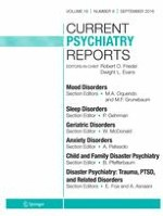 Current Psychiatry Reports 9/2016