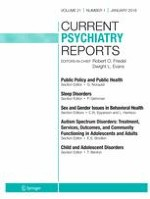 Current Psychiatry Reports 1/2019