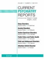 Current Psychiatry Reports 5/2019