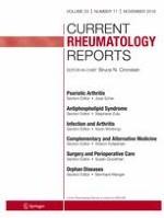 Current Rheumatology Reports 11/2018