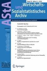 AStA Wirtschafts- und Sozialstatistisches Archiv 2-3/2016