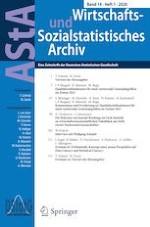 AStA Wirtschafts- und Sozialstatistisches Archiv 1/2020