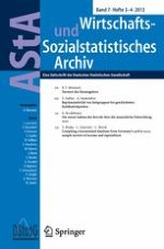 AStA Wirtschafts- und Sozialstatistisches Archiv 3-4/2013