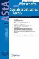 AStA Wirtschafts- und Sozialstatistisches Archiv 1/2015