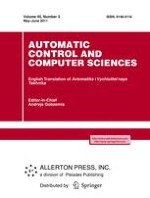 Automatic Control and Computer Sciences 3/2011