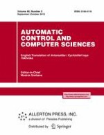 Automatic Control and Computer Sciences 5/2012