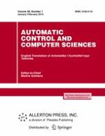 Automatic Control and Computer Sciences 1/2014
