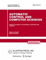 Automatic Control and Computer Sciences 5/2014