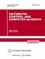 Automatic Control and Computer Sciences 3/2016