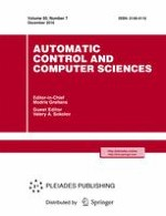 Automatic Control and Computer Sciences 7/2016