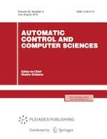 Automatic Control and Computer Sciences 4/2018