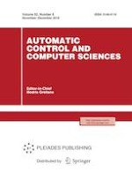 Automatic Control and Computer Sciences 6/2018