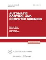 Automatic Control and Computer Sciences 8/2018