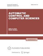 Automatic Control and Computer Sciences 5/2019
