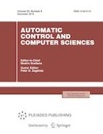 Automatic Control and Computer Sciences 8/2019
