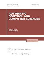 Automatic Control and Computer Sciences 5/2020